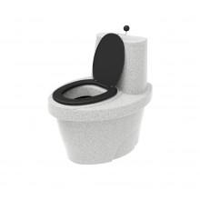 """Торфяной туалет """"Rostok"""" белый гранит"""